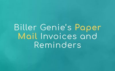 Biller Genie's Paper Mail Invoices and Reminders
