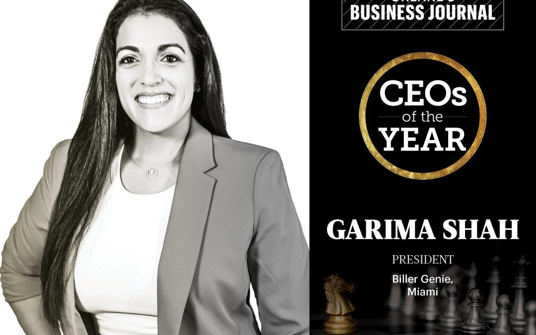 Garima Shah – Orlando Business Journal CEOs of the Year